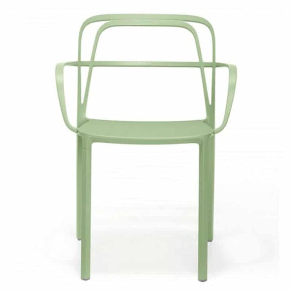 fauteuils-terrasse-bar-metal-empilable-vert-clair-intrigo-pedrali