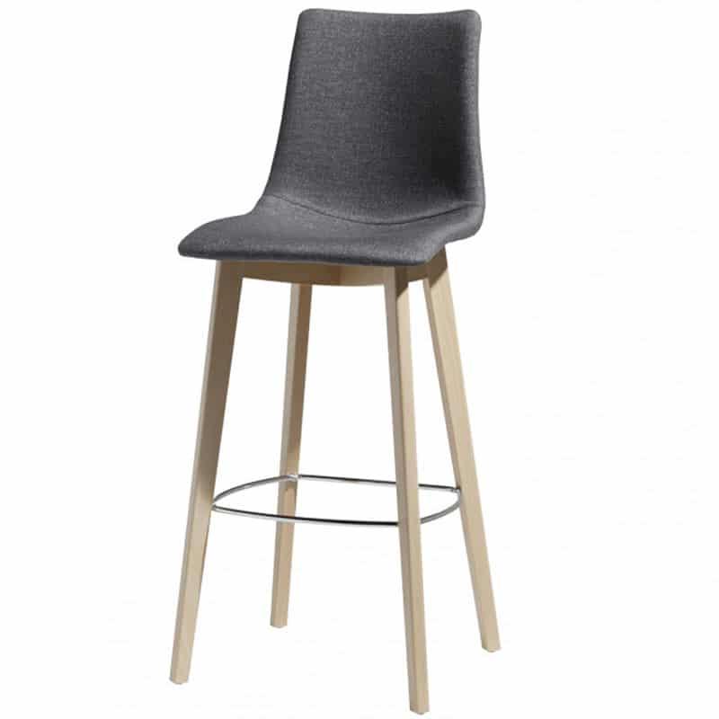 Chaise-haute-bar-haut-de-gamme-bois-tissu-natural-zebra-pop-scab