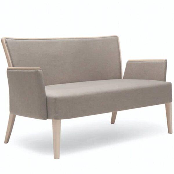 mobilier professionnel sofa d'accueil entreprise tissu bois noblesse 222