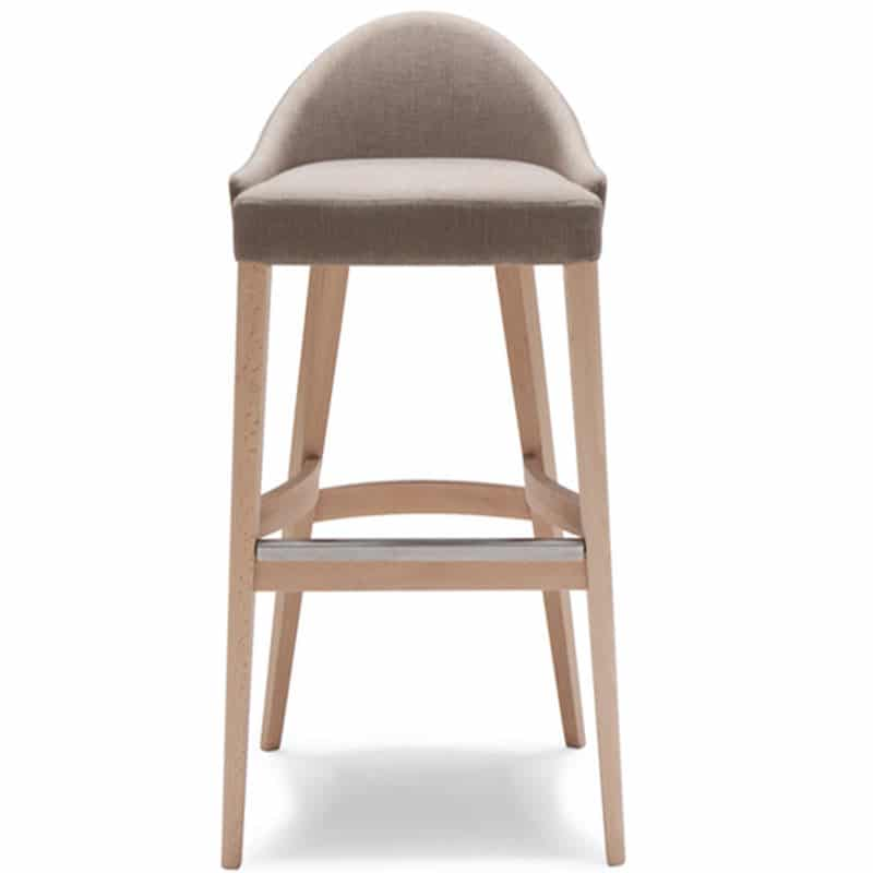 chaise de bar haute bois tissu mobilier chr william