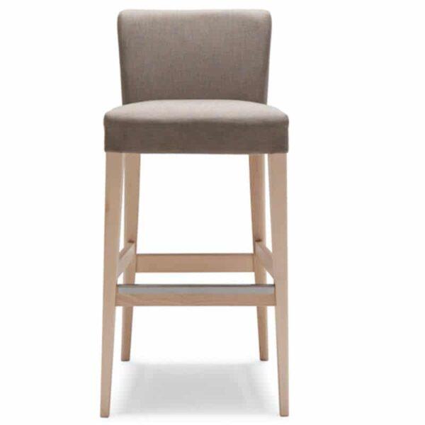 chaise de bar tissu bois naturel 209