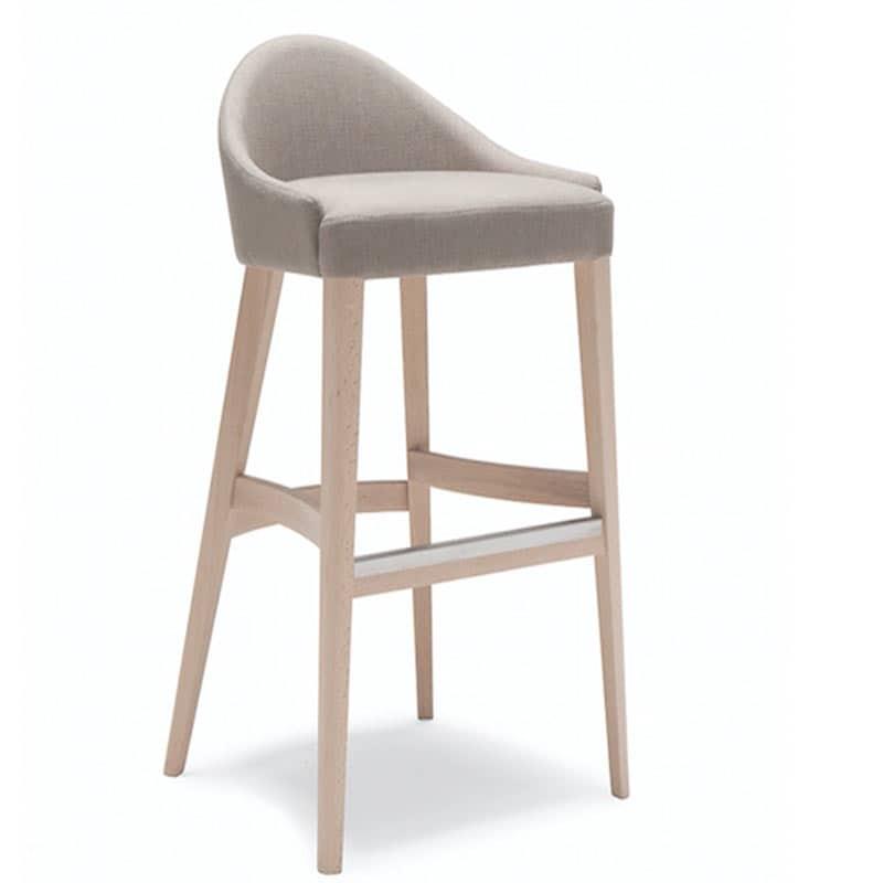 Mobilier hôtellerie restauration chaise bar haute tissu bois naturel william