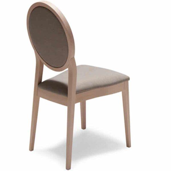 chaises chr bois forme médaillon tissu medaillon 186