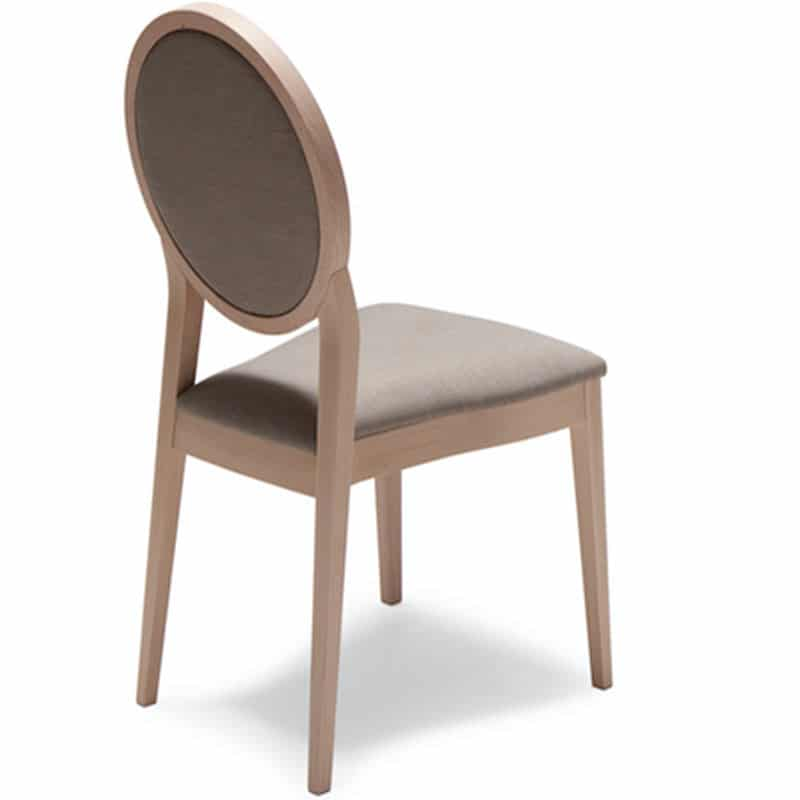 chaises chr bois forme médaillon tissu186