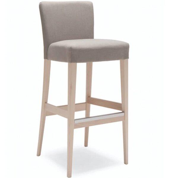 mobilier bar restaurant tabouret tissu bois confortable noblesse 209
