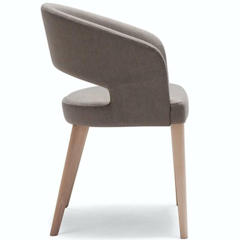 Mobilier restaurant haute de gamme fauteuil tissu et bois RAY