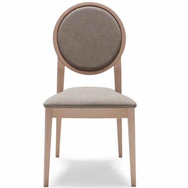 mobilier hôtellerie restaurant chaise tissu bois naturel forme médaillon 186