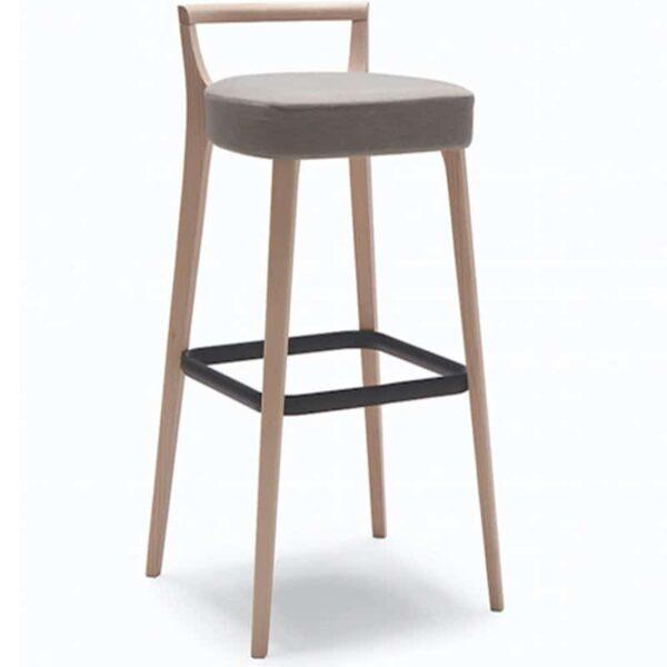 mobilier professionnel chr tabouret bar haut bois et tissu metro 161