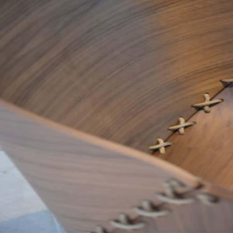 Mobilier haut de gamme hôtellerie restauration entreprise fauteuil design bois GOSSIP JANKURTZ