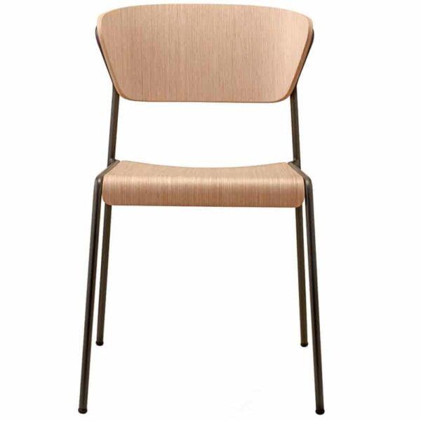 Chaise restaurant bois moderne et design LISA WOOD SCAB DESIGN