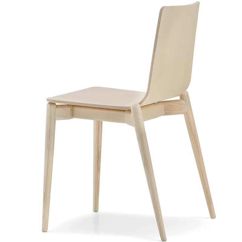 Chaise restaurant bois naturel haut de gamme MALMO 390 PEDRALI