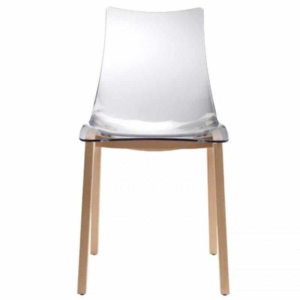 chaise-design-restaurant-pieds-bois-coque-pvc-transparente-natural-glossy-scab