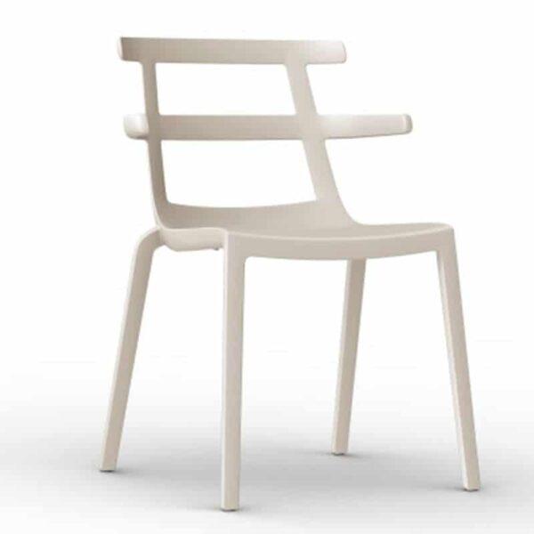 chaise plastique blanche design monobloc empilable tokyo resol