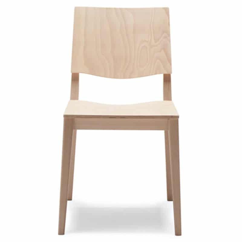 Chaise hôtellerie bois naturel moderne Maxime mobilier restaurant