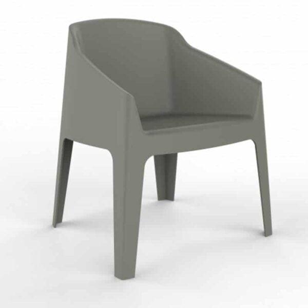 mobilier accueil exterieur fauteuil monobloc vert design baku resol