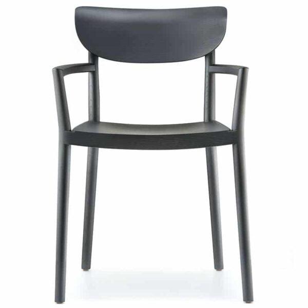 fauteuil-contract-bois-noir-design-tivoli-pedrali