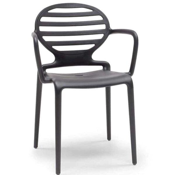 fauteuil-terrasse-restaurant-bar-noir-empilable-cokka-scab-design