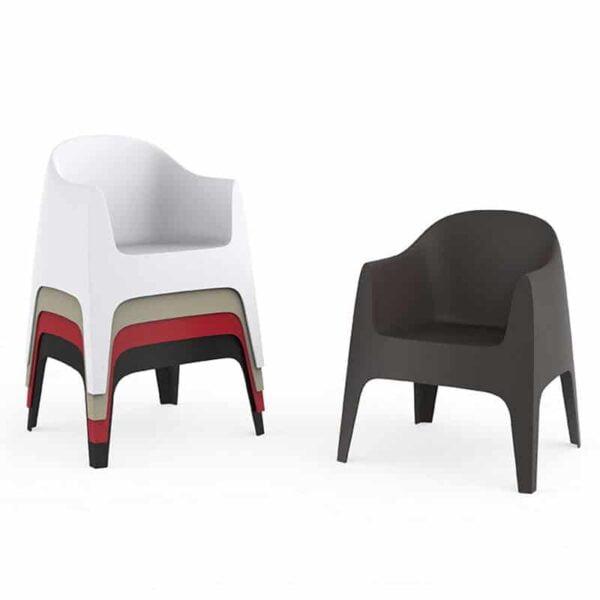mobilier chr fauteuils design empilables plastique solid vondom