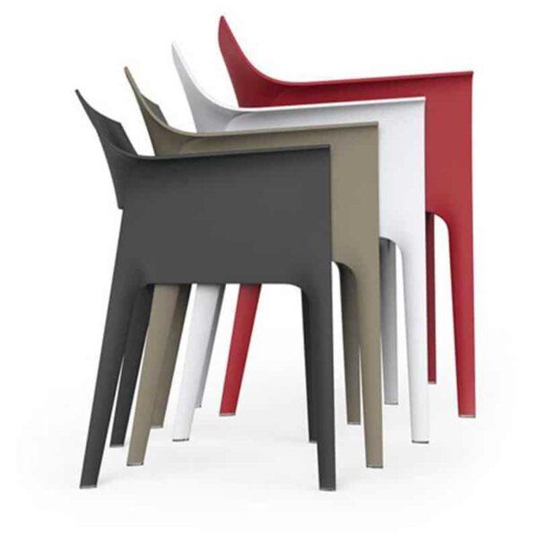 fauteuils-terrasse-cafe-restaurant-empilables-design-pedrera-vondom
