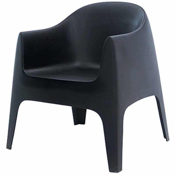 mobilier-chr-fauteuil-terrasse-noir-empilable-solid-vondom