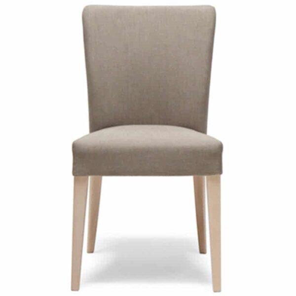 mobilier restaurant chaise en tissu et bois naturel empilable noblesse 207