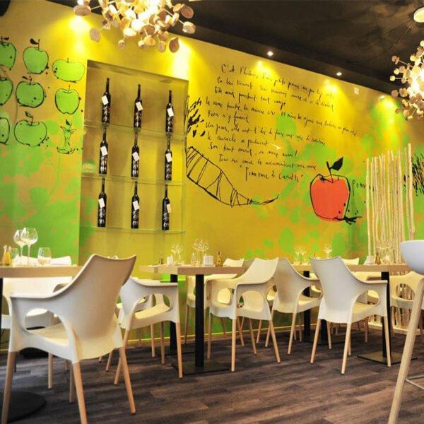 mobilier-restaurant-design-fauteuil-coque-blanche-pied-bois-naturel-ola-natural-scab