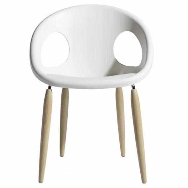 mobilier-restaurant-fauteuil-design-blanc-pieds-bois-natural-drop-scab