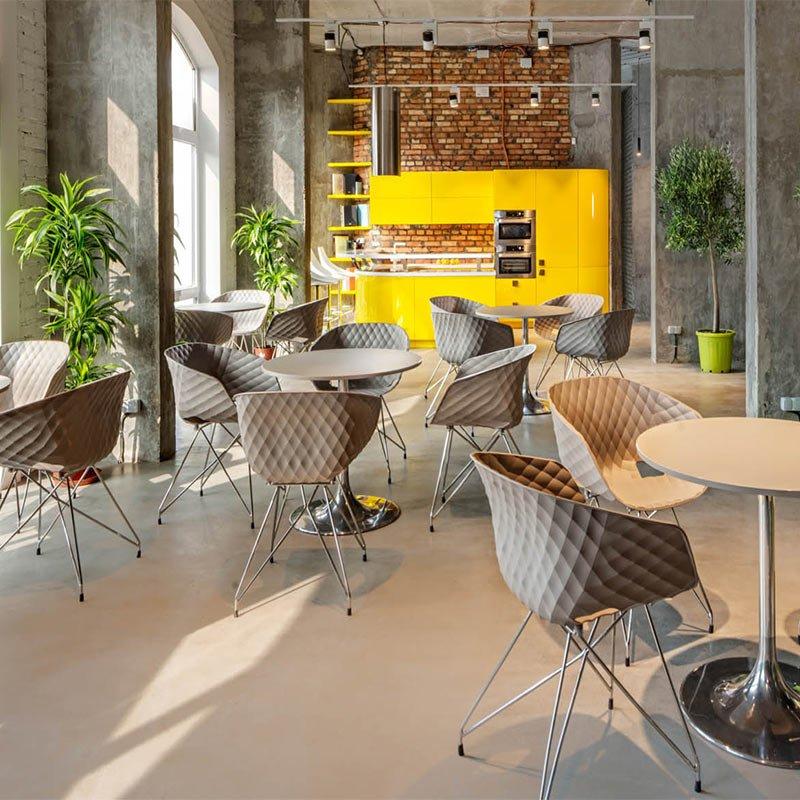 mobilier entreprise et collectivité chaises design coque plastique uni ka metalmobil