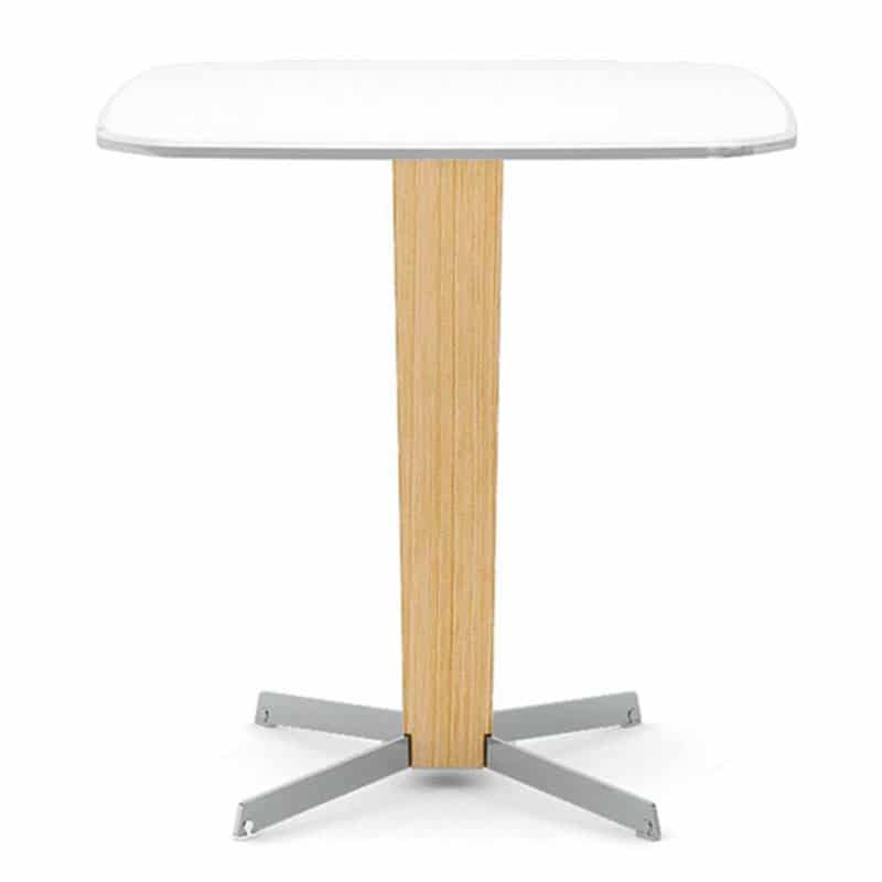 Table-restaurant-design-bois-clair-plateau-compat-blanc-porta-venezia-infiniti