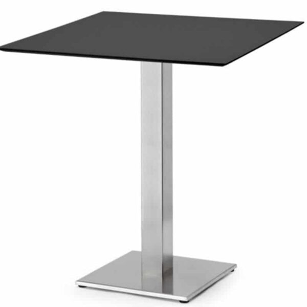 table-restaurant-design-plateau-gris-pieds-inox-tiffany-base-scab