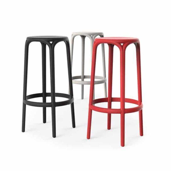 tabourets-design-plastique-monobloc-brooklyn-vondom