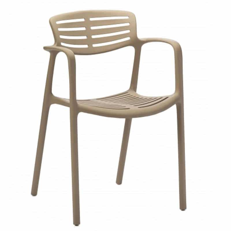 mobilier professionnel restauration fauteuil accoudoirs empilable toledo aire resol