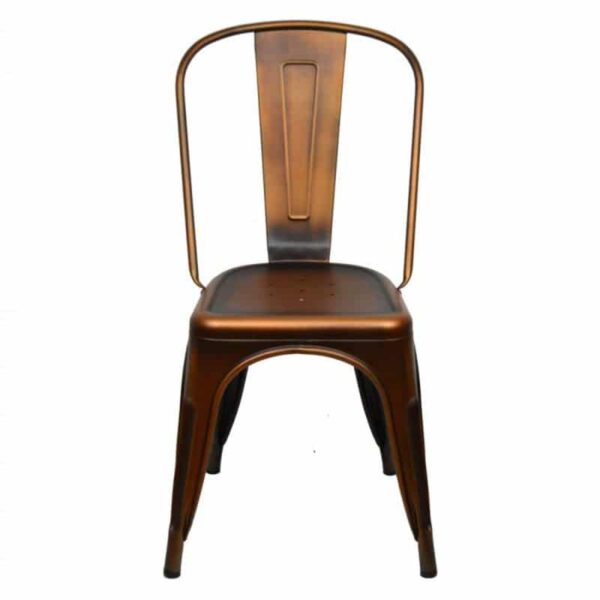 mobilier-industriel-restaurant-chaise-cuivre-acier-empilable-tuly