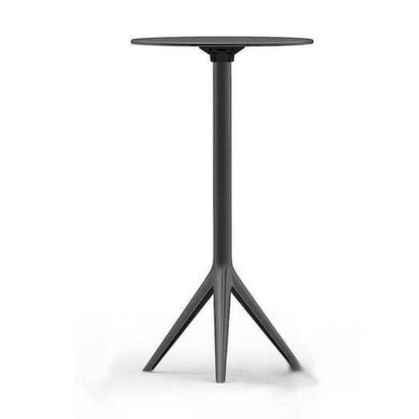 table-haute-design-noire-pliante-mari-sol-vondom