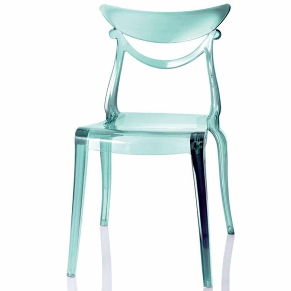 chaise-restaurant-design-translucide-bleue-mobilier-pro-marlene-alma-design