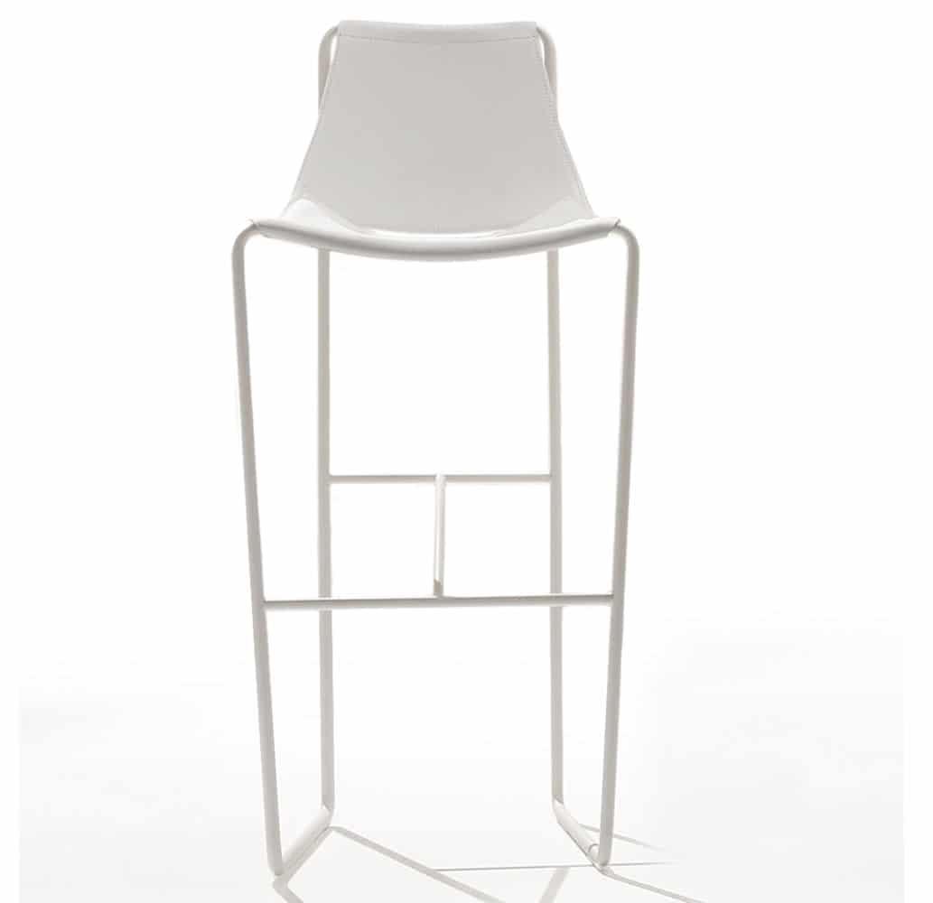 Chaise Bar Cuir Design Blanc Haut De Gamme