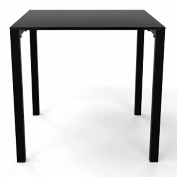 mobilier-collectivite-table-carree-noire-simple-claro-gaber