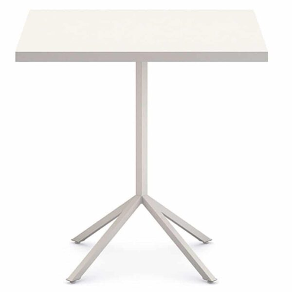 table-restaurant-acier-blanche-carree-design-line-infiniti-design