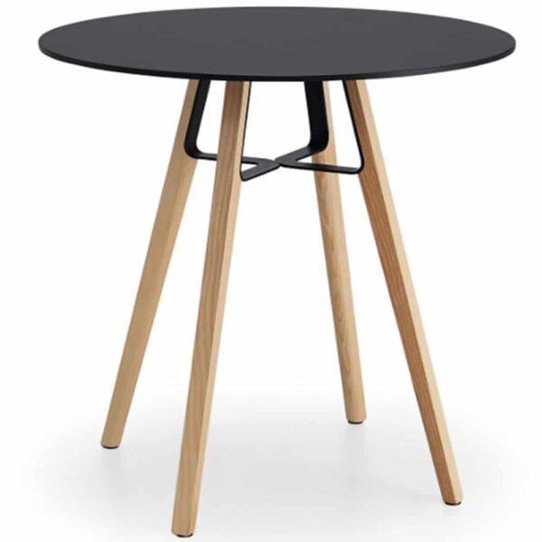 table-restaurant-ronde-noire-design-4-pieds-bois-liu-midj