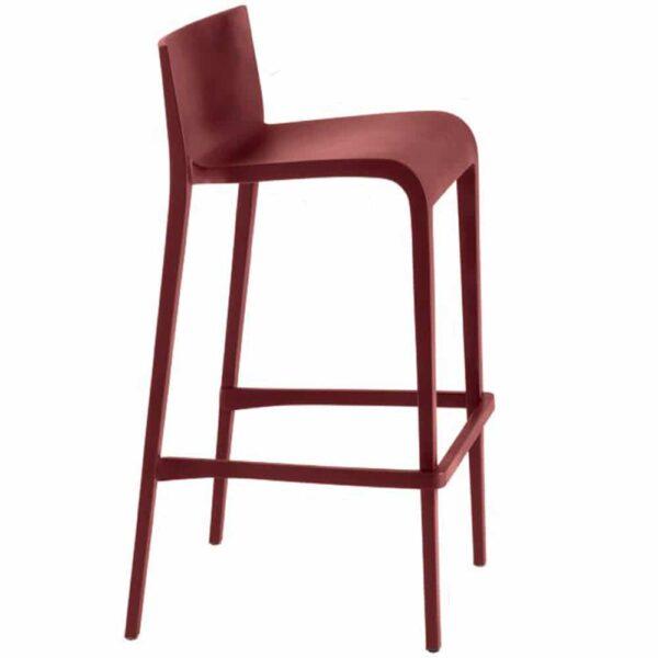 Tabouret-bar-empilable-plastique-rouge-avec-dossier-nassau-metalmobil