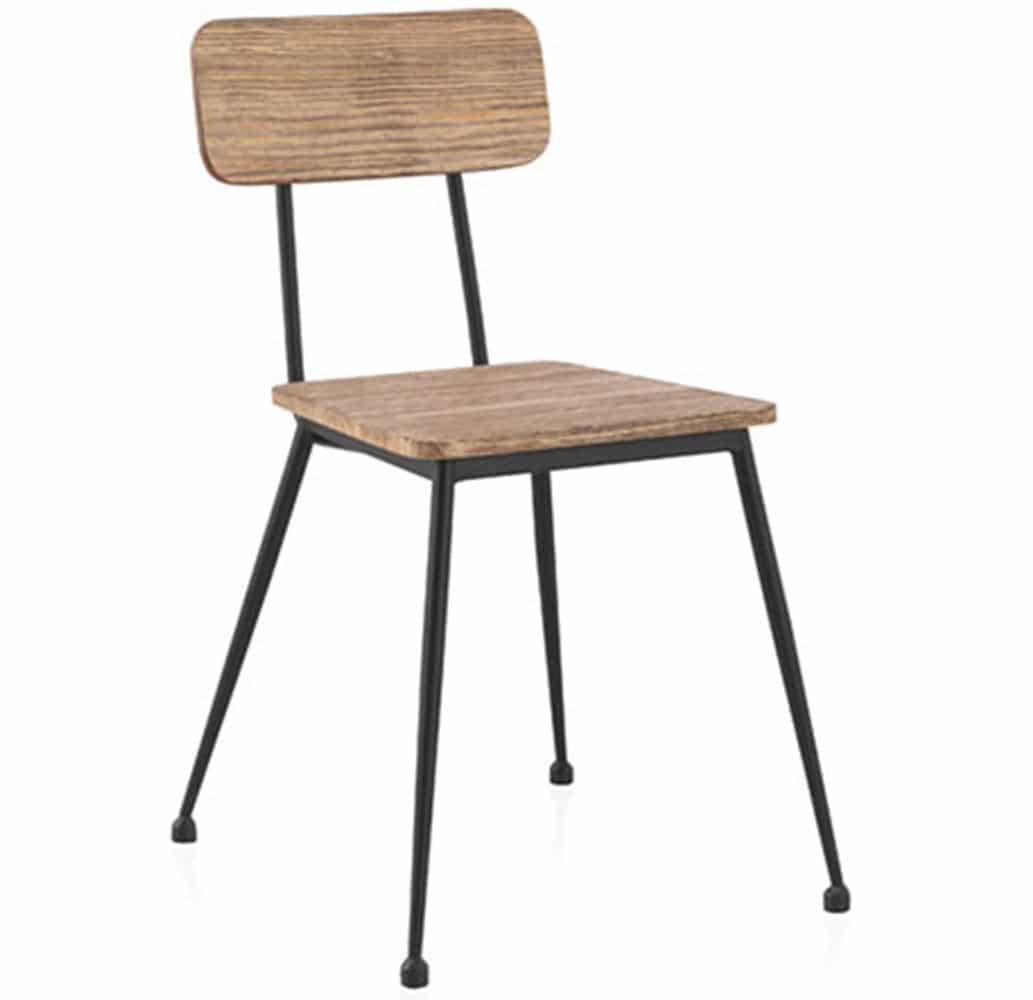 chaise industrielle vintage restaurant glad 641 muebles