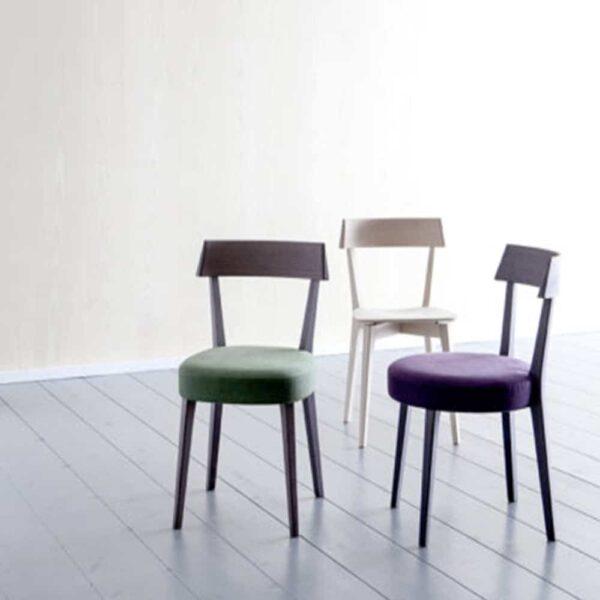 chaises restaurant tissu bois modernes aris soft