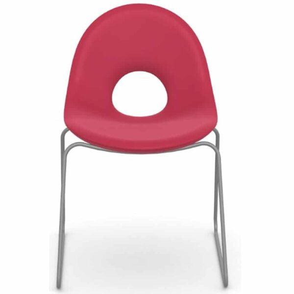 chaise-salle-d-attente-coqe-plastique-pied-metal-candy