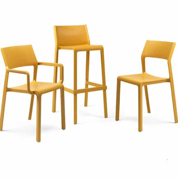 fournisseur-mobilier-restauration-chaises-empilables-trill-jaunes