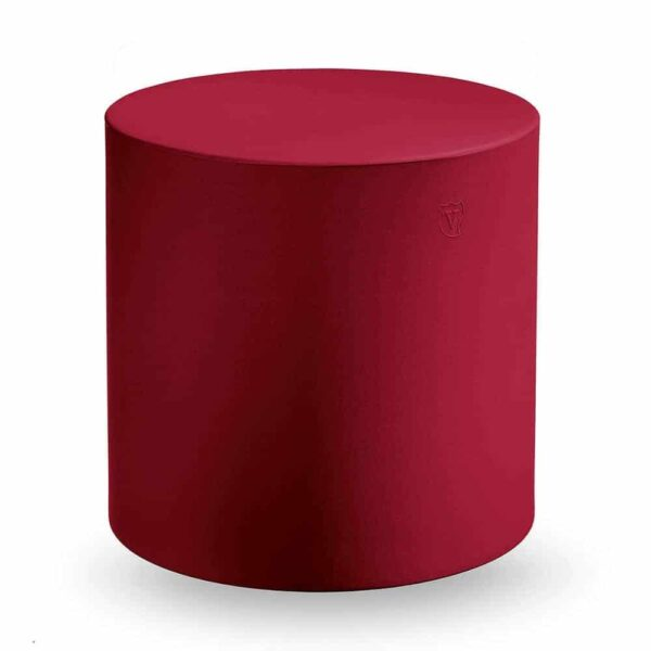 pouf-design-rond-rouge-monobloc-cylindro