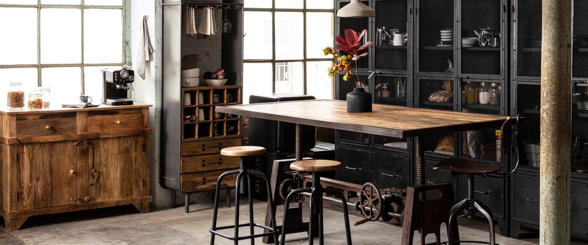 mobilier vintage industriel restaurant