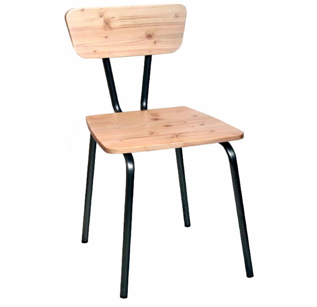 Chaise Bois Et Metal Industriel chaise basto