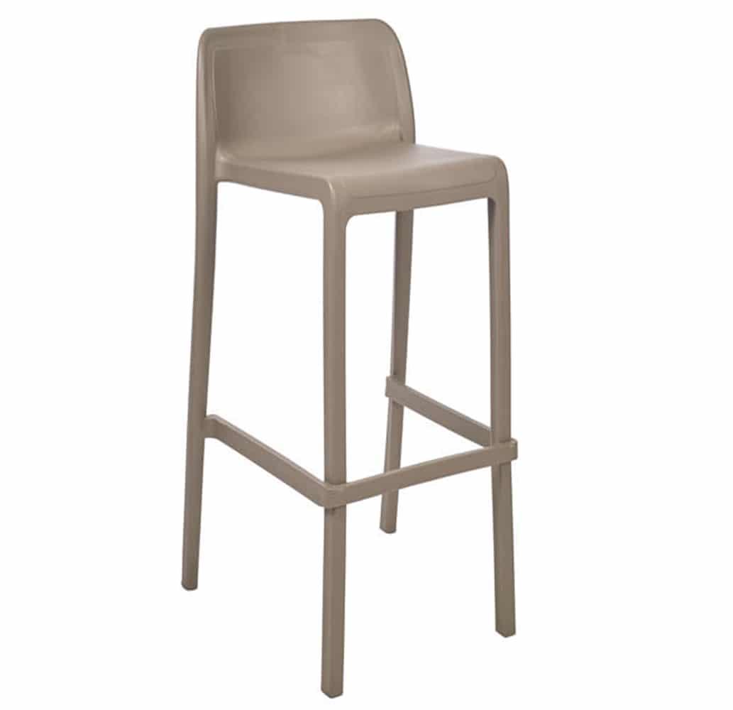 chaise-haute-de-bar-taupe-empilable-atoc