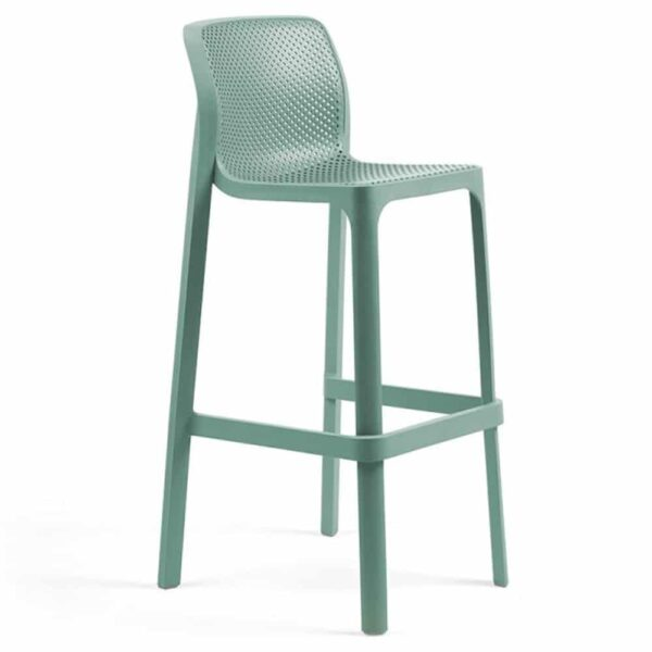 chaise-de-bar-empilable-plastique-bleu-avec-dossier-net