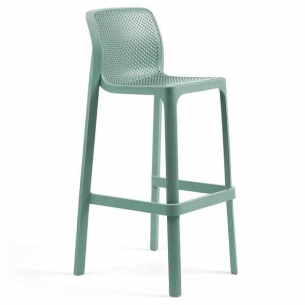 chaise-de-bar-empilable-plastique-bleu-avec-dossier-net